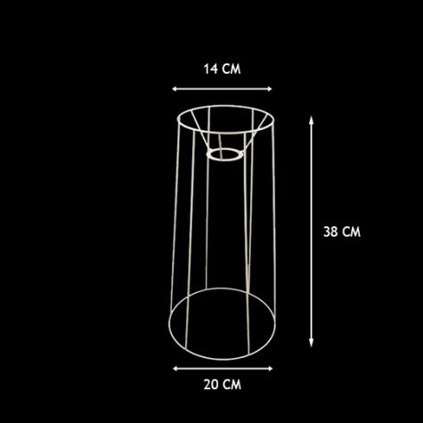 Carcasse abat-jour - Carcasse tube