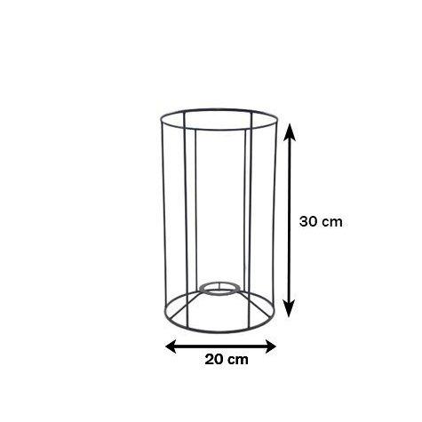 Carcasse d'abat-jour - Cylindrique CC20 - ⌀ 20 / Hauteur 30 cm