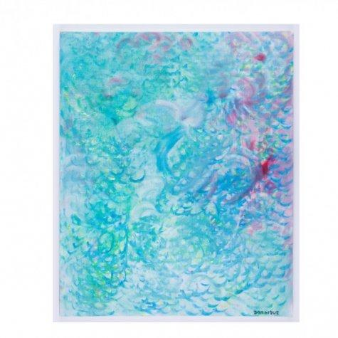 Lithographie original signée et numérotée - Gouttes d'eau - 60x54 cm